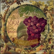 Wines of France II-CB - Tile Mural