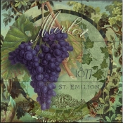 Wines of France III-CB - Tile Mural