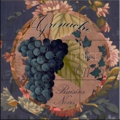 Wines of France IV-CB - Tile Mural