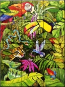 Tropical Scenery    - Tile Mural