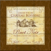Wine Label 3 Pinot Noir-FSG - Tile Mural