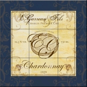 Wine Label 4 Chardonnay-FSG - Tile Mural