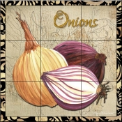 Vegetables Onions-MD - Tile Mural