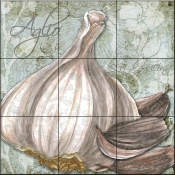 Buon Appetito Garlic-MD - Tile Mural
