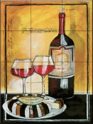 Wine Notes II-JG - Tile Mural