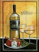Wine Notes IV-JG - Tile Mural