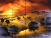 Foothills Sunset-JR - Tile Mural