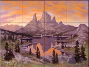Heavenly Twilight-JR - Tile Mural