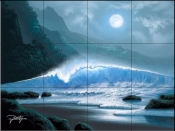 Moonlight Blue-JR - Tile Mural