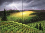 The Vineyard Meadow-JR - Tile Mural