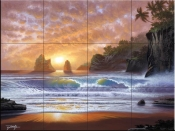 Golden Oasis-JR - Tile Mural
