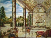 Villa Angelica-JR - Tile Mural