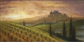 Sunset Upon the Vineyard- JR - Tile Mural