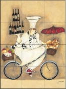 Wine Peddler-JG - Tile Mural