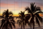 Sunset Palm-SA - Tile Mural