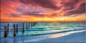 Sunset in Paradise-SA - Tile Mural