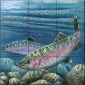 Rainbow Trout-CF - Tile Mural