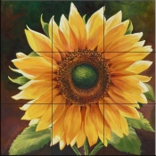 Yellow Sunflower-LSH - Tile Mural