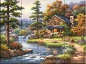 Mountain Creek Cabin-SK - Tile Mural