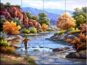 Fly Fishing-SK - Tile Mural