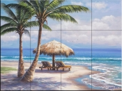 Tropical Shade-SK - Tile Mural