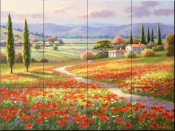 Poppy Fields-SK - Tile Mural