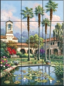 Palm Reflection-SK - Tile Mural