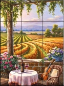 Vineyard & Violin-SK - Tile Mural