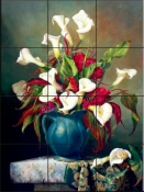 Callas with Cockscomb-FG - Tile Mural