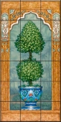 Temple Topiary I-JK - Tile Mural