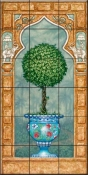 Temple Topiary II-JK - Tile Mural