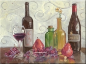 Wine Fruit and Coloful Vases-TK - Tile Mural