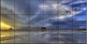 Storm Front at Naples Pier - SA - Tile Mural