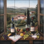Wine on the Window - BF - Tile Mural
