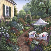 Relax in the Garden - BF - Tile Mural