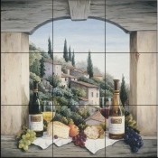 Still Life in the Italian Hills - BF - Tile Mural