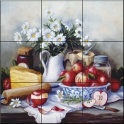 Summer Still Life - BF - Tile Mural