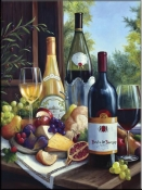 Still Life With Wines - Tile Mural