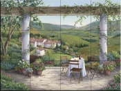 Afternoon in the Vine - BF - Tile Mural
