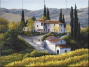 Vineyard in Autumn - BF - Tile Mural