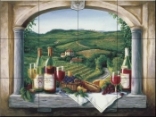 Vineyard Reverie - BF - Tile Mural