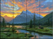 Peaceful Evening - MK - Tile Mural