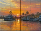 Sunset Harbor - MK - Tile Mural