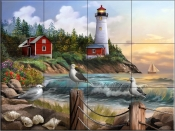 Gull Point Lighthouse - HP - Tile Mural