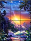 Hawaiin Embrace - CRL - Tile Mural