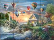 Balloons Over Sunset Cove - NB - Tile Mural