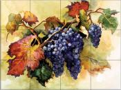 Grapes Ready for the Harvest - ED - Tile Mural