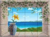 Idyllic Sea with Lily - DFA - Tile Mural
