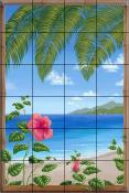 Hawaiin Breeze - DFA - Tile Mural