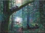 Moonlit Encounters - MK - Tile Mural